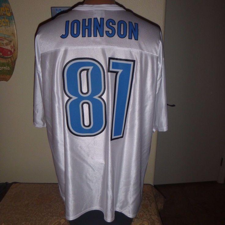 """#87 CALVIN JOHNSON """"Megatron"""" DETROIT LIONS JERSEY by NFL APPAREL  adult XL nwot"""