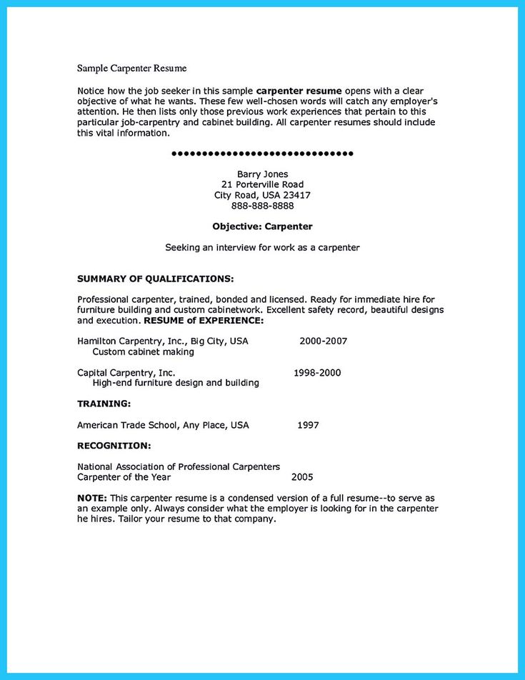 carpenter resume examples 97 192 best resume template images on - Carpentry Resume Template