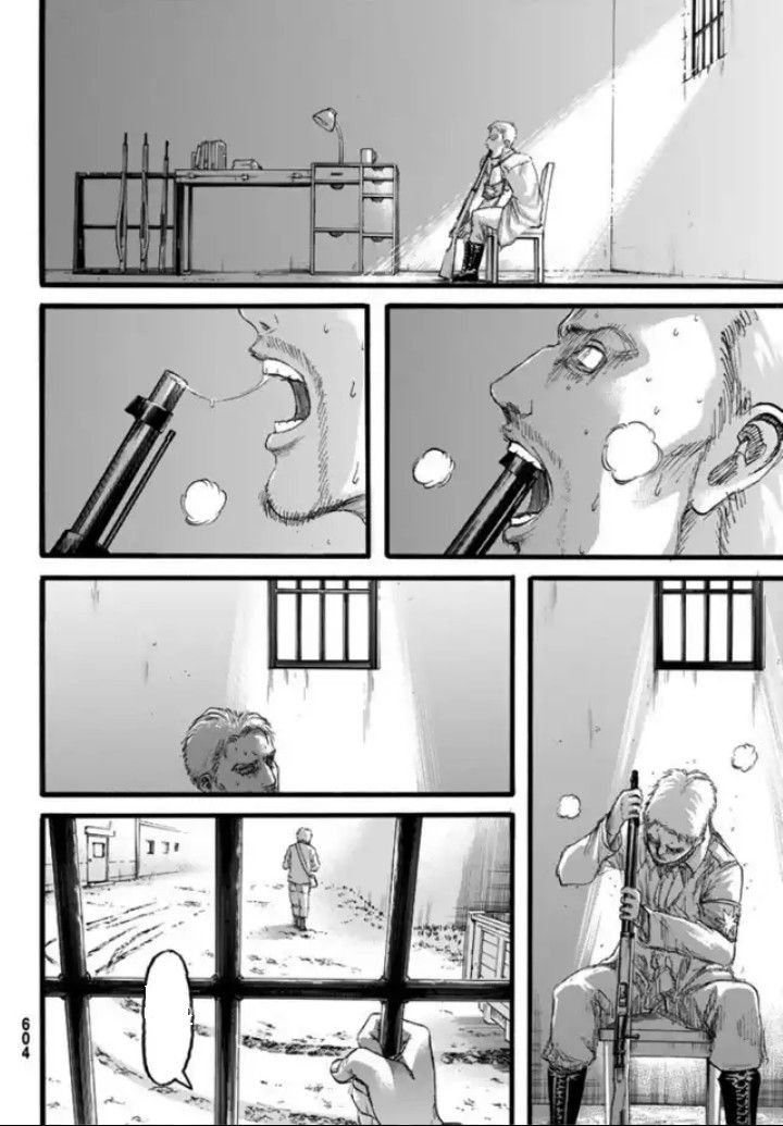 Shingeki no Kyojin Chapter 97 - Reiner revisiting his past and regretted every single he he'd done by taking his own life, but backing out in the end.
