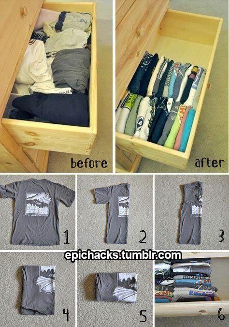 Perfect way to fold a shirt