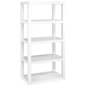 Home Decorators Collection Parsons 62 in. x 30 in. White 4-Shelf Bookshelf-0158900410 at The Home Depot