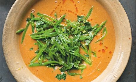 Yotam Ottolenghi's thai red lentil soup recipe: 'the first thing I make when autumn officially arrives'. Photograph: Jonathan Lovekin for the Guardian