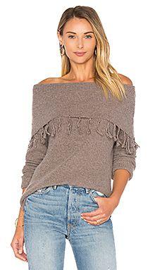 Palermo Off Shoulder Fringe Sweater