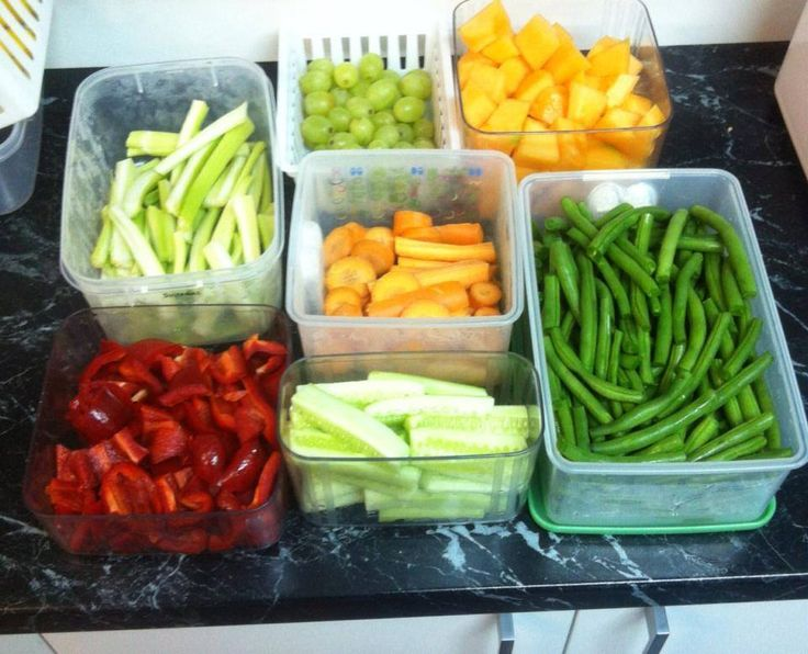 Cut vegies and fruits in advance, it makes filling multiple lunch boxes easier