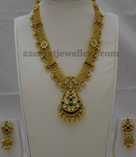 Jewellery Designs: Kundan Work Medium Size Set