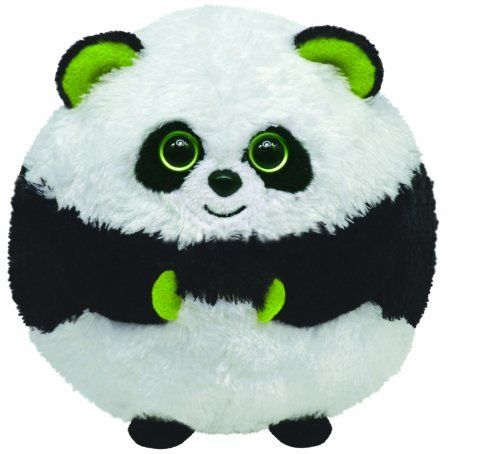"""Ty Beanie Ballz - Bonsai the Panda (008421380022) Authentic Ty Beanie Ballz Collection Approximately 5"""" Tall For Ages 3 And Up Surface Wash"""