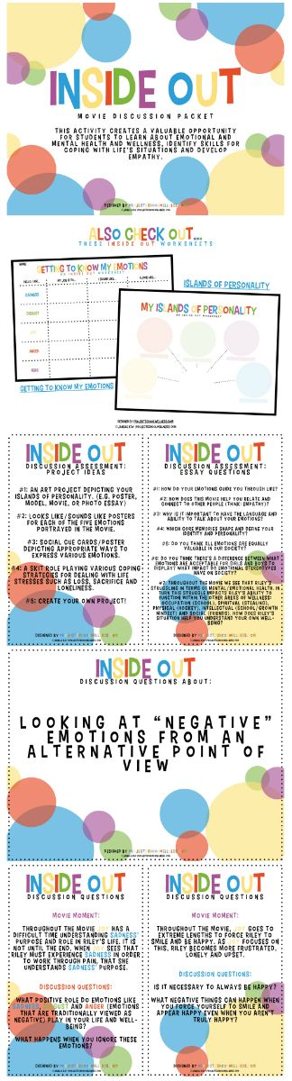 Inside Out Lesson Plans, School Counseling Repinned by SOS Inc. Resources pinterest.com/sostherapy/.