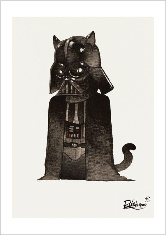 Darth Vader cat by RaphaelVavasseur on Etsy