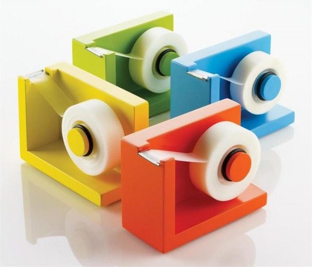 Tape dispensers.