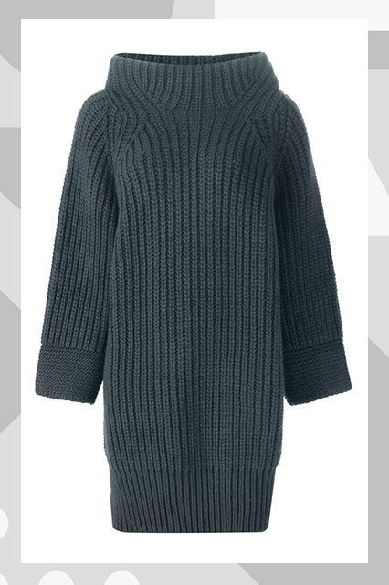 The R29 Guide To The Best Fall Sweaters #refinery29 http://www.refinery29.com/best-fall-sweaters#slide-21 Sweater DressTo wear with your thigh-high boots....