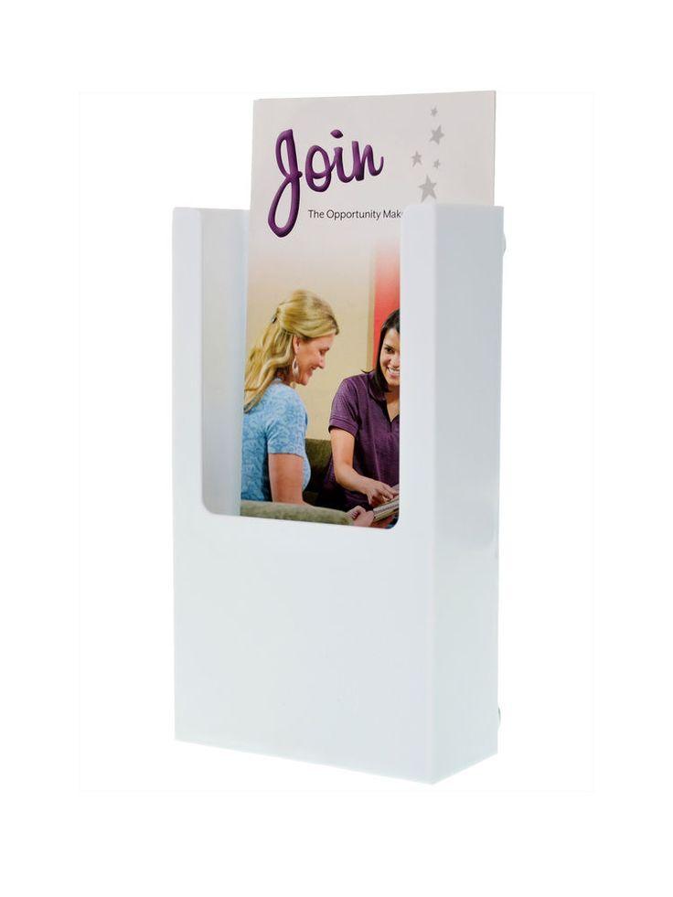 """BROCHURE HOLDER 3 7/8"""" x 7"""" White Magnetic Brochure Holders #MarketingHolders"""