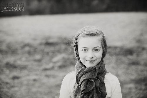 Child Portrait in black and white by www.shealynphoto.com