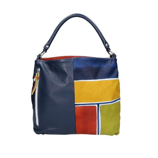 Astore Bag Acquerello Blu Beta 100% Genuine Leather Fully Handpainted 100% Made in Italy  #handbags #madeinitaly #astore #tholia #fashionbags #italianbrands #bags #madeinitalybags #leatherbags #360view