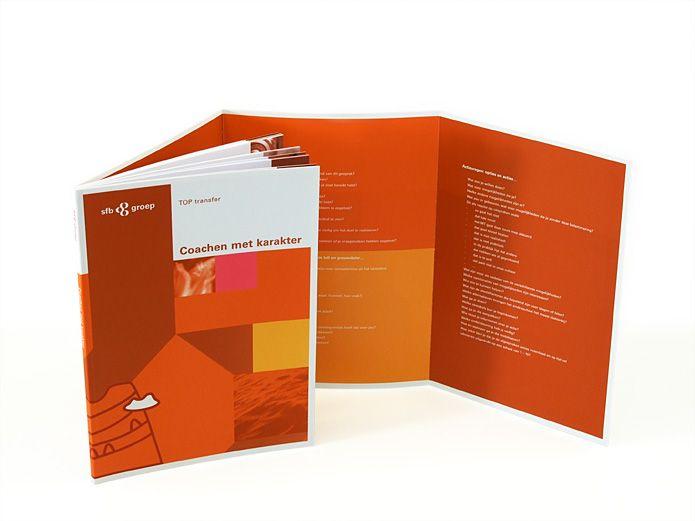 Brochure met 8 pagina's omslag