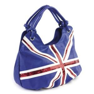 Union Jack Large Bag Handbag-union jack bag handbag sequin british england flag