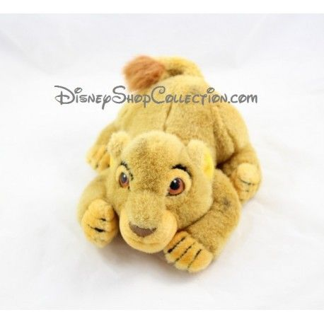 Peluche lion Simba DISNEYLAND PARIS Le Roi Lion couché enfant 24 cm