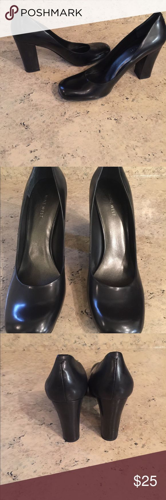Nine West Black Shoes Only worn once. In excellent condition! Nine West Shoes Heels