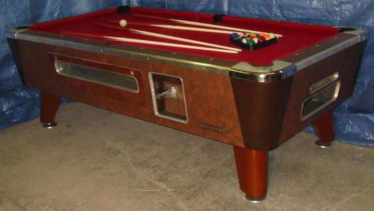 Valley Cougar Bar Size Commercial 7' Coin-operated Pool Table. Refurb In Red