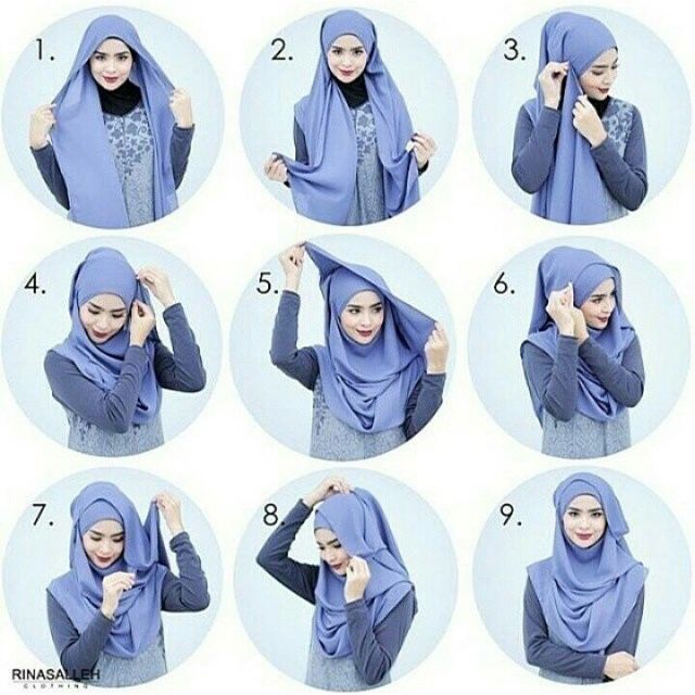 Simple and beautiful #hijabtutorial #stepbystep #shawltutorial #islamic
