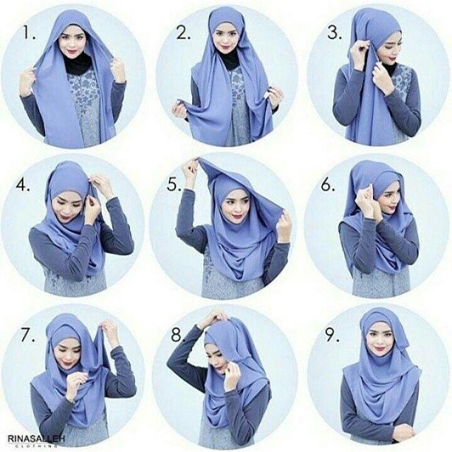 Simple and beautiful #hijabtutorial #stepbystep #shawltutorial #islamic