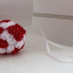 Boule de fleurs en papier de soie pour mariage