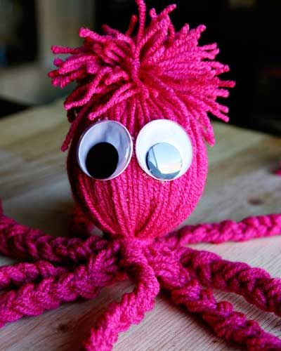 i remember something similar to this that my grandmother made me as a child. - DIY Octopus Yarn Doll Craft from @See Vanessa Craft