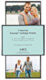MCS One 5×7 Inch, Two 4×6 Inch Format Frame Collage, 3 Openings, Black (47674)   Collage holds 2-4×6 images and 1-5×7 image Sleek frameless look Easy to front-load your pictures or images Polished edge glass for Safety and easy loading Can be hung on the wall either...