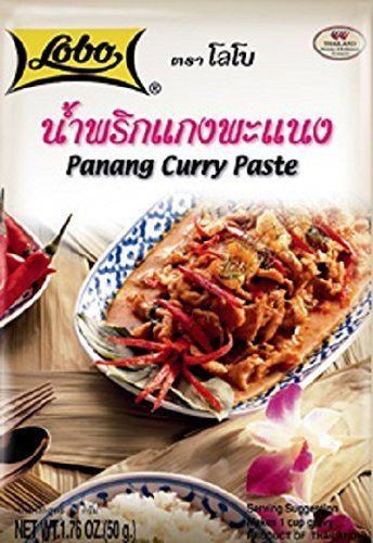 Thai Panang Curry Paste (Kaang Panang), Thai Spicy Food, Lobo Cooking Food, 50 G / 1.76 Oz