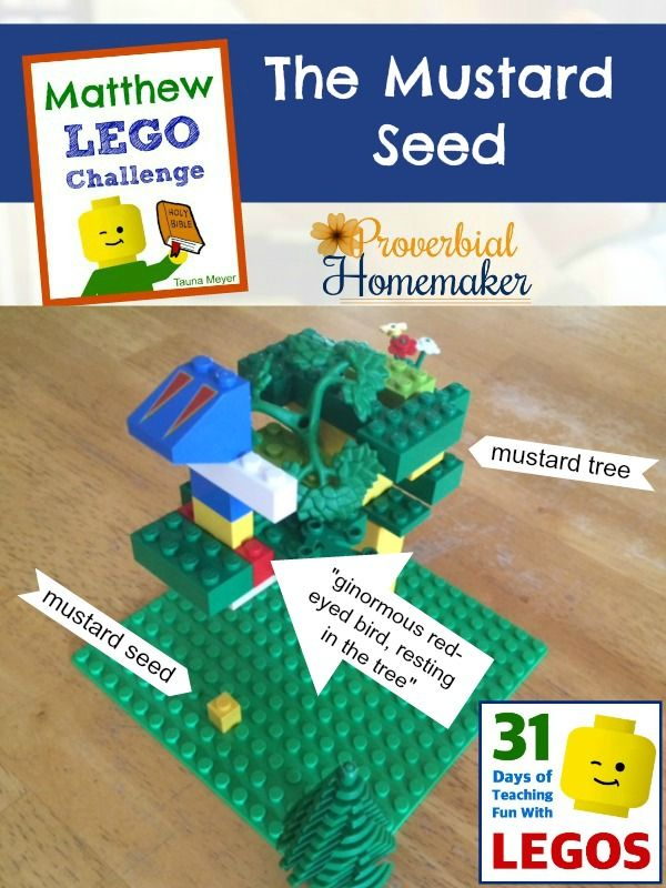 The Mustard Seed (Day 12 Matthew Bible Lego Challenge) - http://www.proverbialhomemaker.com/the-mustard-seed-day-12-matthew-bible-lego-challenge.html