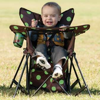 Go with Me Chair. 3months - 6 years (up to 75lbs) At over $80 a chair I bet I can buy a 10 camp chair and find a way to DIY this :)