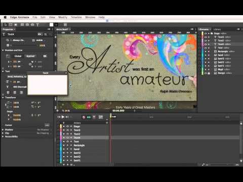 Anatomy of an Edge Animate Project - YouTube