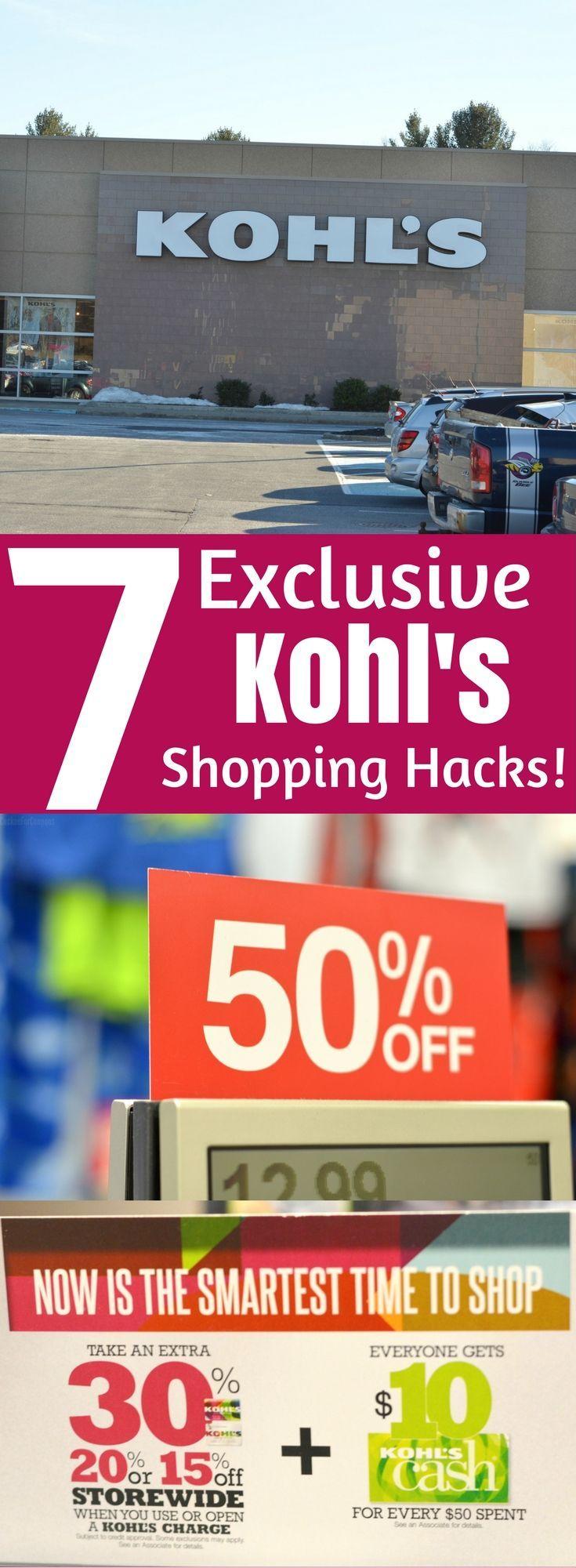7 Exclusive Kohl's Shopping Hacks!