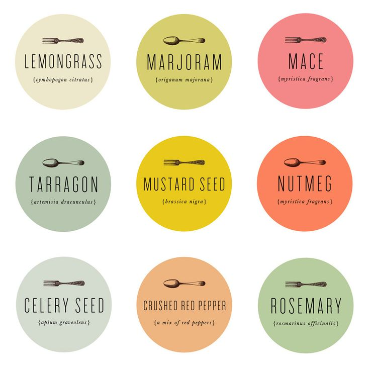 Spice labels via mignon kitchen