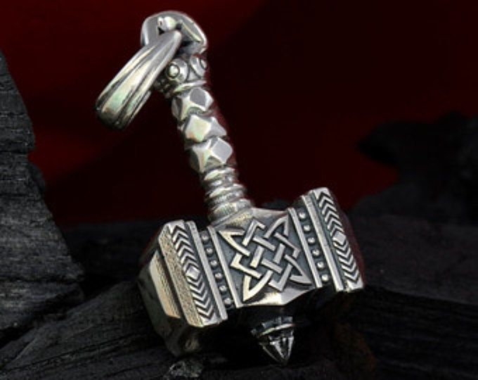 Thors hammer Pendant Silver 1 oz 28 gr Mjolnir Thor's hammer necklace Viking jewelry Norse jewelry