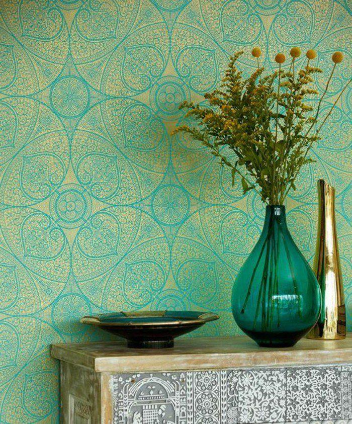 17 meilleures id es propos de papier peint vert sur pinterest mod le vert d cor de chambre. Black Bedroom Furniture Sets. Home Design Ideas