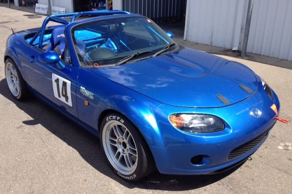 Tasker and his NC model MX5 will contest the Modern Sports Cars series