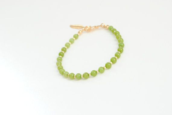 Green jade bracelet lime green bracelet friendship by elfinadesign