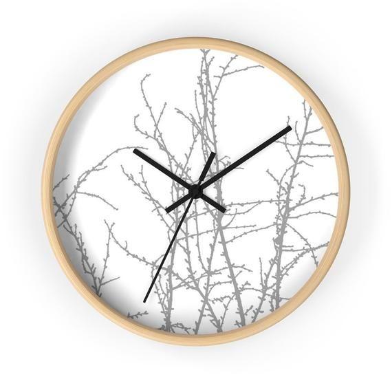 Modern Wall Clock In Gray Minimalistic Design Wall Clock In Etsy In 2020 Scandinavian Wall Clocks Wall Clock Modern Grey Wall Clocks