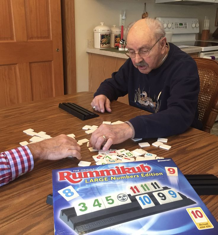 Low vision games like Rummikub keeps your mind engaged and socializing with others.