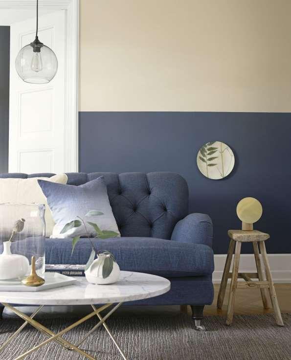 2 tone Living Room Walls – Nice Home Designs Dining Room Paint Colors, Living Room Paint, Living Room Grey, Room Colors, Home And Living, Half Wall Decor, Design Your Home, House Design, Demis Murs