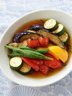 カラフルな夏野菜がたっぷりいただけます♪ そうめんに汁ごとかけても美味しい!