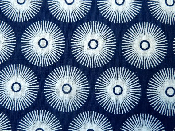 Blue and White Shweshwe Fabric  100% cotton  by MathildeAndCo