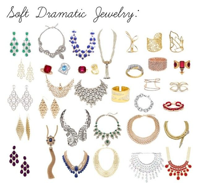 """""""Kibbe Soft Dramatic Jewelry"""" by ithinklikeme on Polyvore featuring Ruby Rocks, Simon Harrison, ABS by Allen Schwartz, Paolo Costagli, Vince Camuto, Bling Jewelry, Alexander McQueen, Alexis Bittar, BaubleBar and Blu Bijoux"""