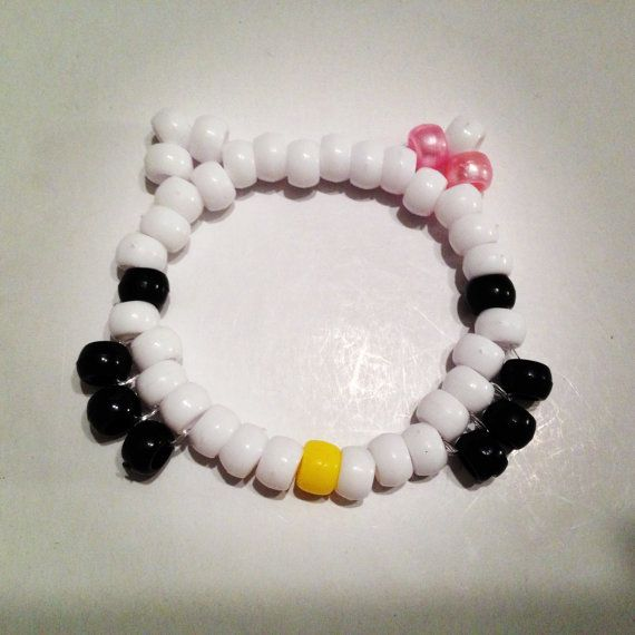 5 Hello Kitty Bracelet Kandi Singles. $5.00, via Etsy.