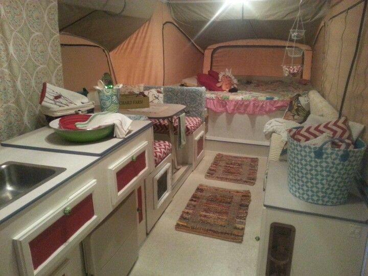 1000 images about my pop up camper redo on pinterest for Pop up camper interior designs