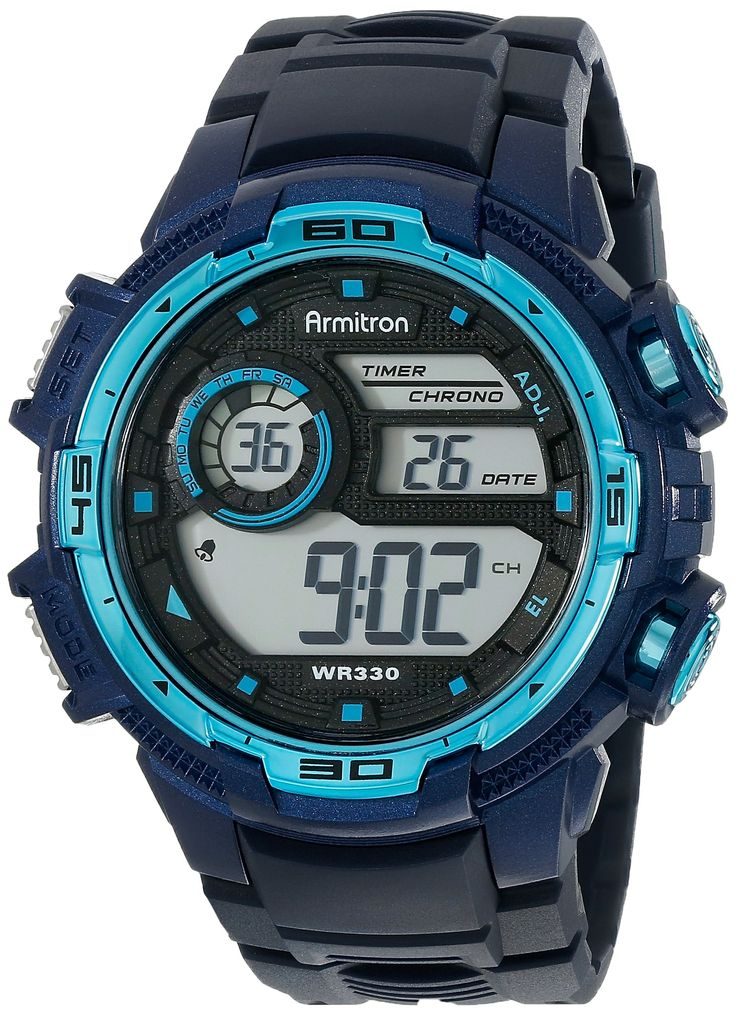 Armitron Sport Men's 40/8347NVY Digital Chronograph Navy