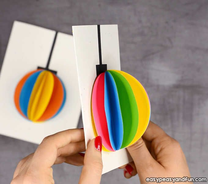 Diy 3d Paper Ornament Christmas Card Idea Christmas Card Ornaments Diy Christmas Cards Christmas Cards Kids