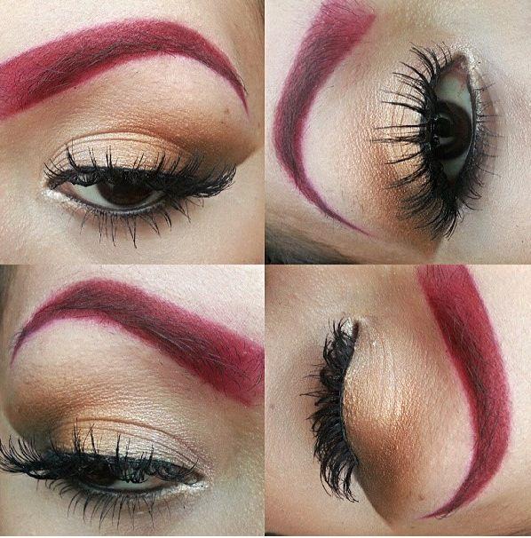 Red Eyebrows Brown Eyeshadow Beauty Pinterest Brown