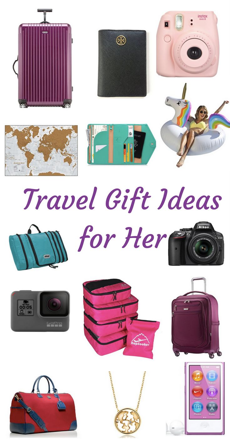 Travel Gift Ideas for Her. No ideas what to get for a travel addict? Find some ideas for each price range. Shopping.