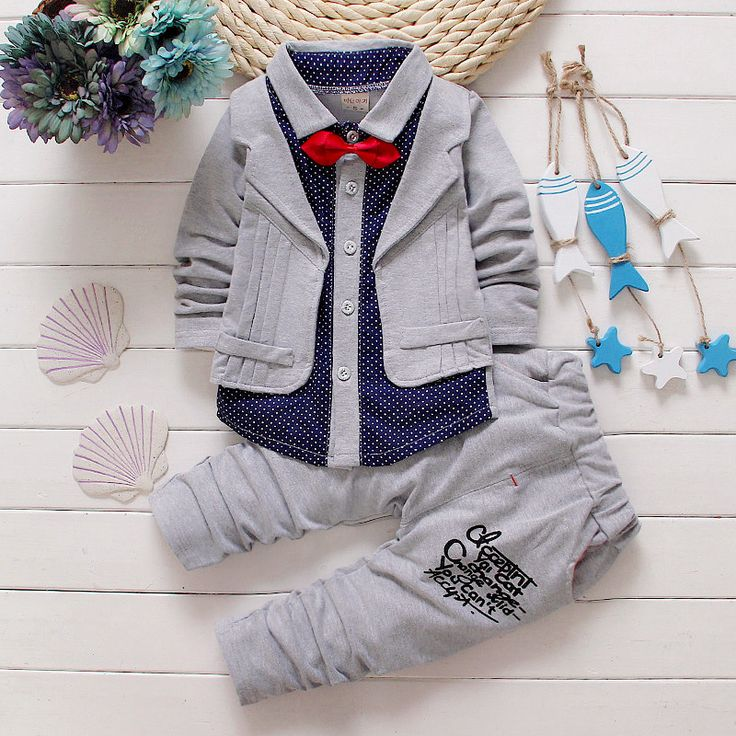 $22.90 (Buy here: https://alitems.com/g/1e8d114494ebda23ff8b16525dc3e8/?i=5&ulp=https%3A%2F%2Fwww.aliexpress.com%2Fitem%2F2016-Spring-new-baby-boy-clothing-set-boys-shirts-pants-small-suit-set-kids-clothing-2%2F32590189148.html ) 2016 Spring new baby boy clothing set boys shirts + pants small suit set kids clothing 2-5 years old kids clothes hot sale for just $22.90
